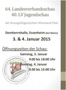 Plakat LV Schau Januar 2015